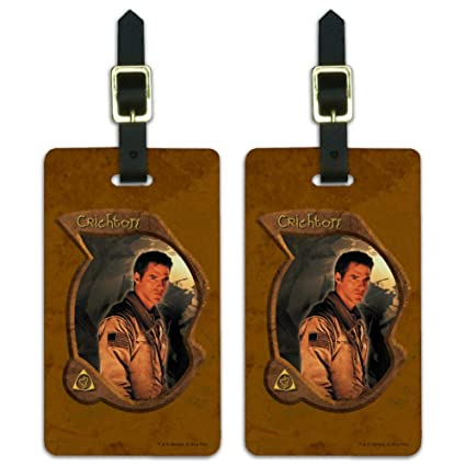 Amazon.com | Farscape John Crichton Luggage ID Tags Suitcase Carry-On Cards - Set of 2 | Luggage Tags