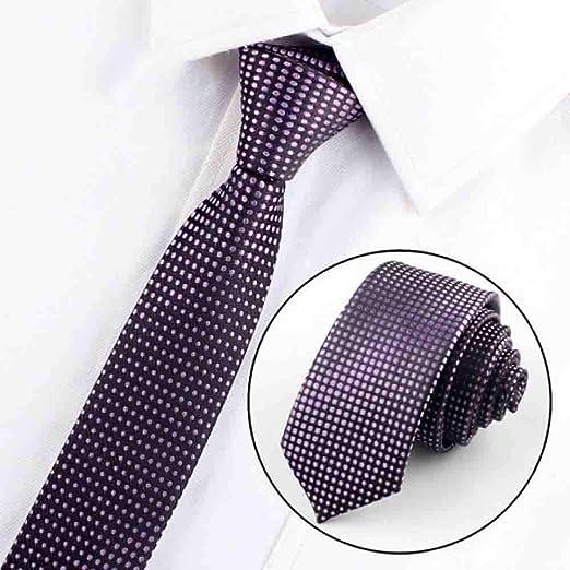 Hjyi Corbata de Vestir para Hombre, Elegante Corbata de Seda de ...