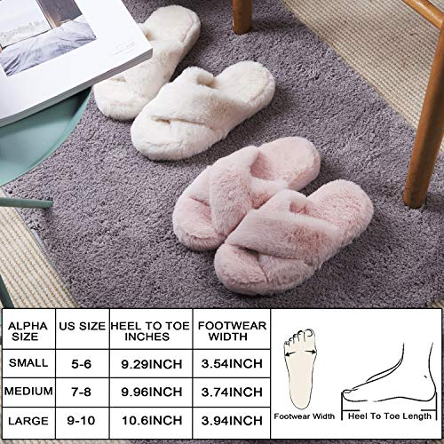 DL Fluffy Womens House Slippers