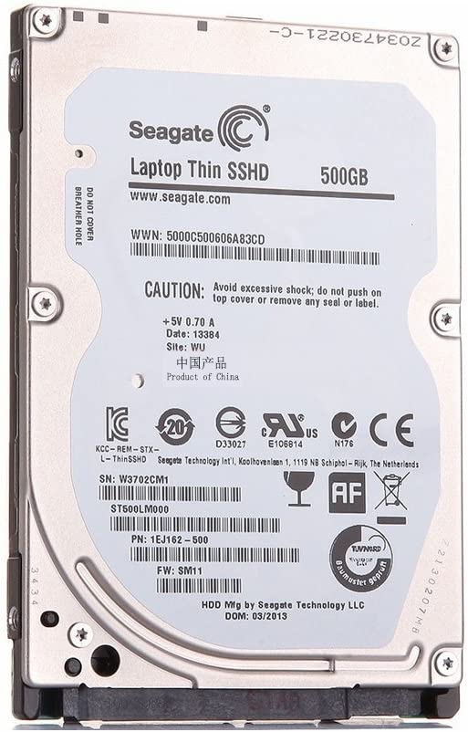 Seagate ST500LM000/SSHD 500/GB 5400/RPM 64/MB SATA 6.0/GB//s 2.5/Unidad h/íbrida de Estado s/ólido