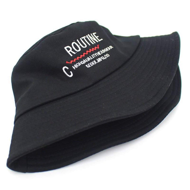 2019 Cotton Letter Bucket Hat Fisherman Hat Outdoor Travel hat Foldable Sun Cap Hats for Men and Women 546