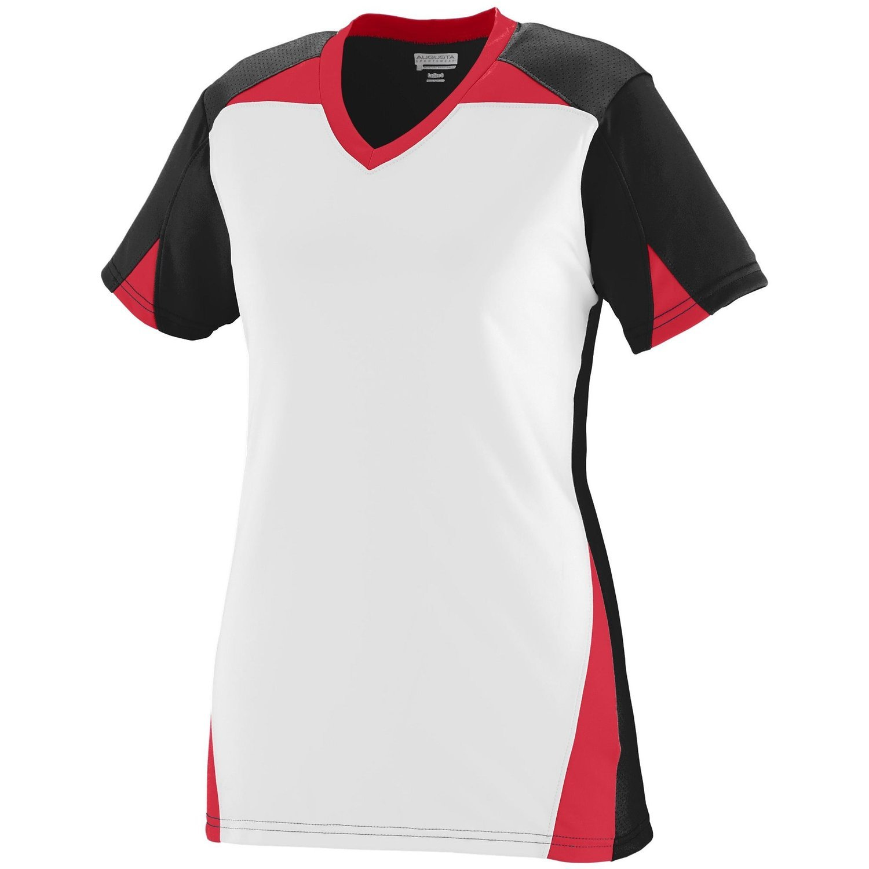 Augusta Sportswearレディースマトリックスジャージー B00P542N10 Large|ブラック/ホワイト/レッド ブラック/ホワイト/レッド Large