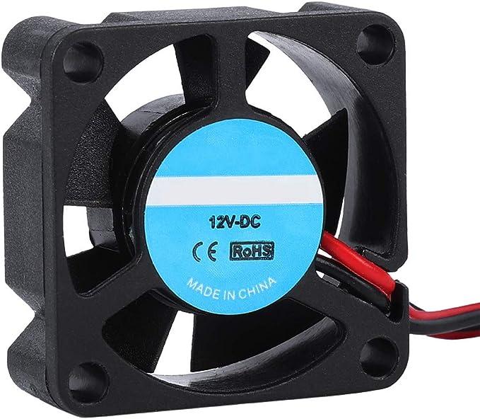 Ventilador de Impresora 3D, 2PCS Ventilador DE Caso de bajo Ruido Ventilador de enfriamiento 3D de 12V, 5.2CFM Gran ...