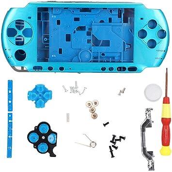 Denash Estuche para Consola de Juegos para PSP 3000, Carcasa Completa con Destornillador, diseño Simple, Compacto, liviano, fácil de Transportar, 5 Colores(Azul): Amazon.es: Electrónica