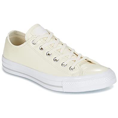 66ce39d44c178 ... germany converse chuck taylor all star crinkled patent leather ox egret  egret whi sneaker damen 528a9