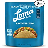 Loma Linda Blue - Plant-Based Meal Solution - Taco Filling (10 oz.) (Pack of 6) - Non-GMO, Gluten Free
