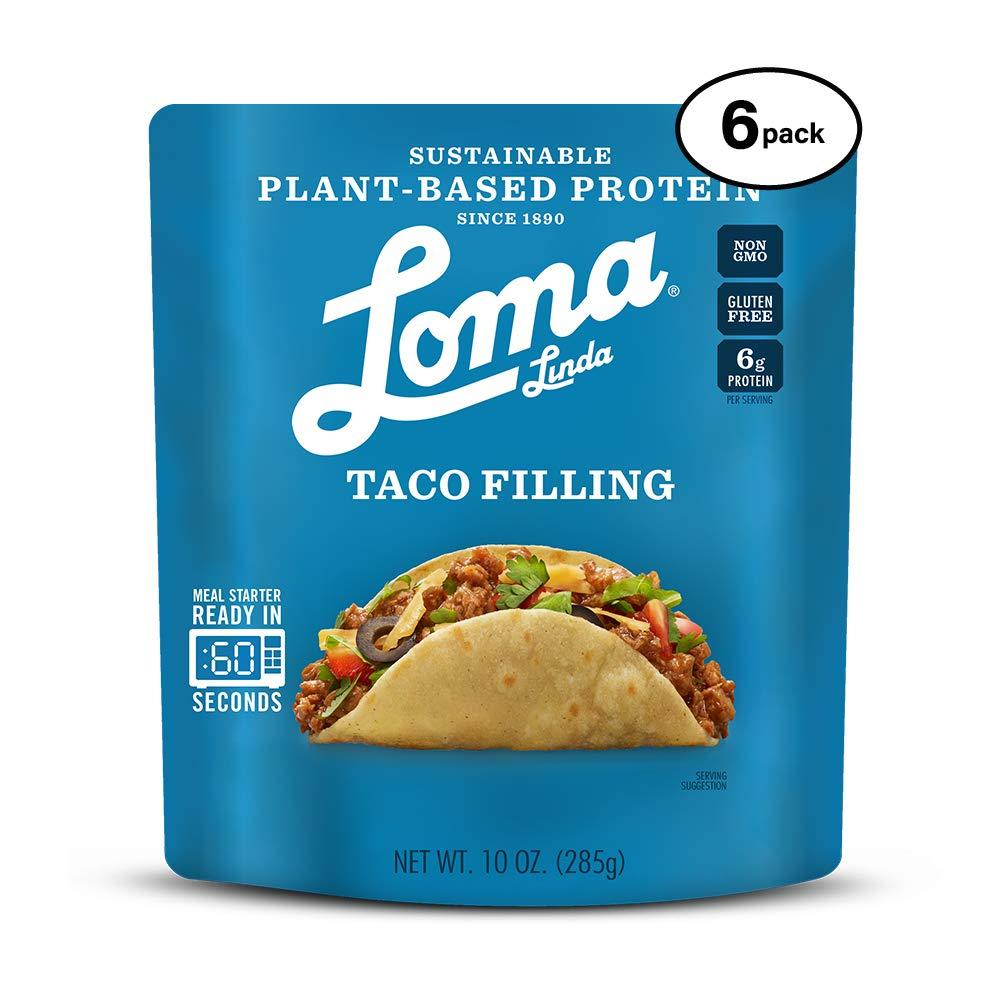 B07P715GQ5 Loma Linda Blue - Plant-Based Meal Solution - Taco Filling (10 oz.) (Pack of 6) - Non-GMO, Gluten Free 61OhZoqt-4L