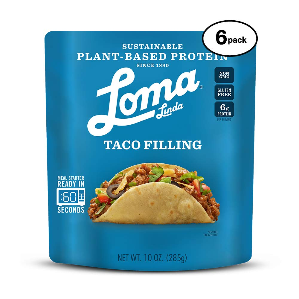 Loma Linda Blue - Plant-Based Meal Solution - Taco Filling (10 oz.) (Pack of 6) - Non-GMO, Gluten Free by Loma Linda (Image #1)