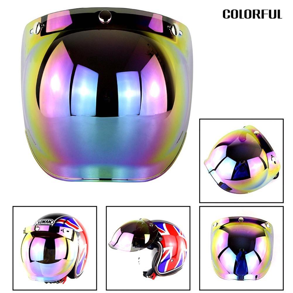 Moto Casque Visiè re Anti-bué e Anti-UV Protection Visage Casque de Moto Lunettes de Soleil Easy-topbuy123