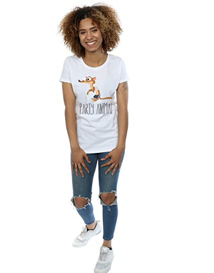 Disney mujer Zootropolis Party Animal Camiseta: Amazon.es: Ropa y accesorios