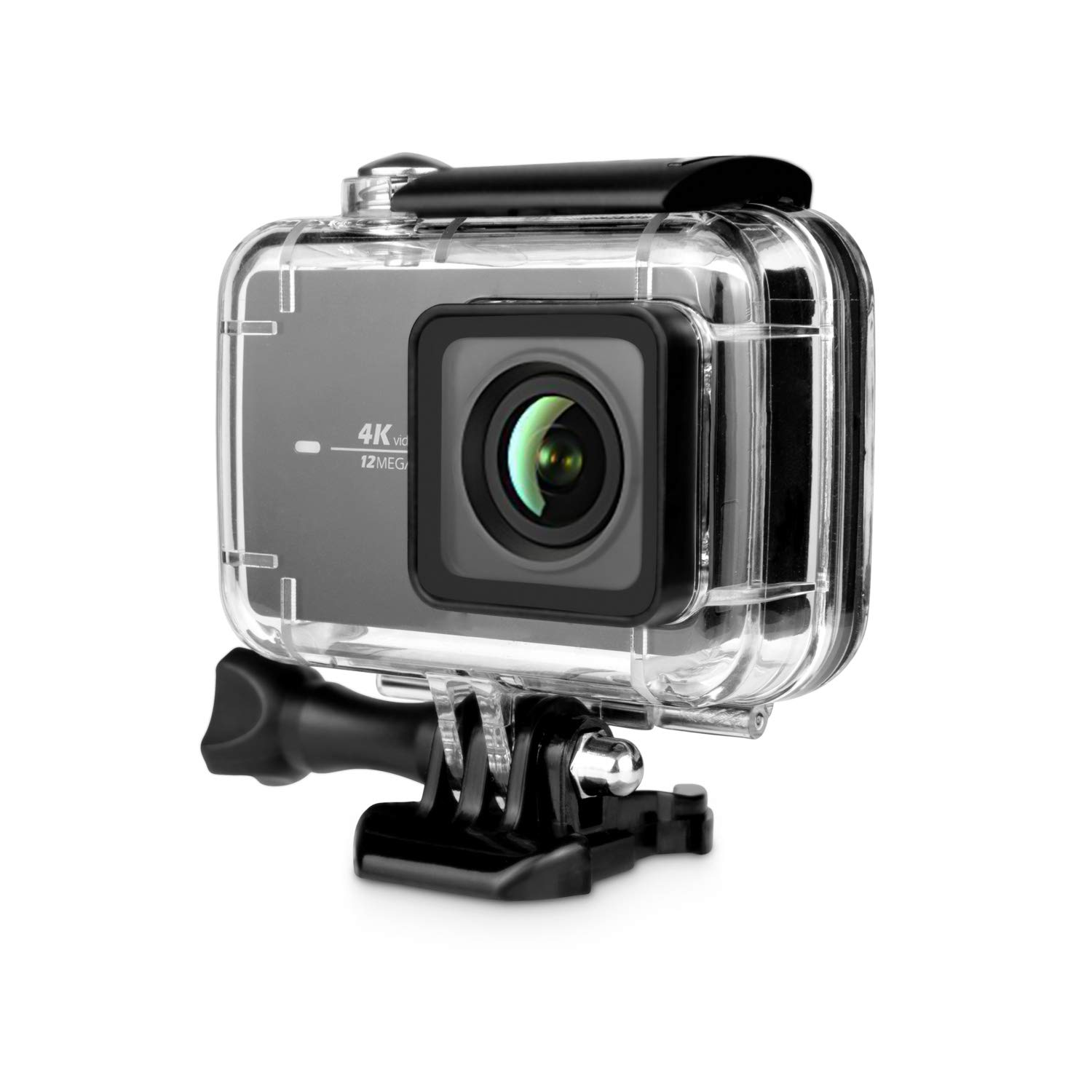 Rhodesy Waterproof Protective Case with Quick Release Buckle for Xiaomi Yi 4K/ 4K+/ Yi Lite/ Yi Discovery 4K Action Camera, Black