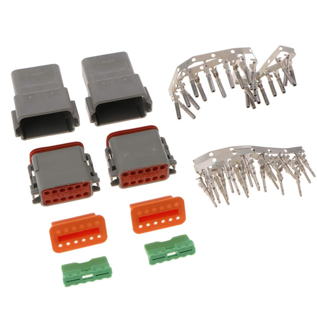 F Fityle 2er Set DT 12Pin Connector Kit DT06-12S DT04-12P Wasserdichter Stecker