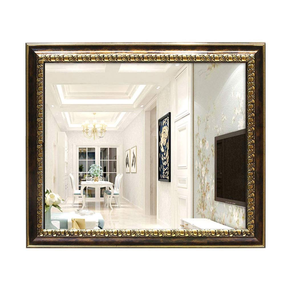 1 50cmx70cm Rectangular Mirror Vanity Bathroom Hallway European Dressing Decorative Living Room Bedroom Wall-Mounted Mirrors Horizontal or greenical Home Improvement