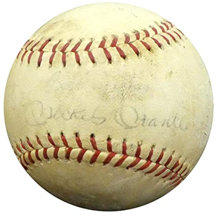 25a3b13bd Image Unavailable. Image not available for. Color: Mickey Mantle Autographed  Official Babe Ruth League Baseball New York ...