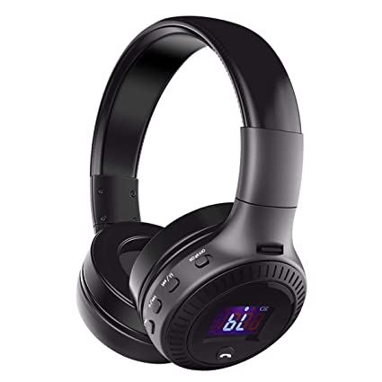 ELEGIANT Auriculares Bluetooth Diadema Sonido Estéreo Nítido Liviano IOS Android Negro