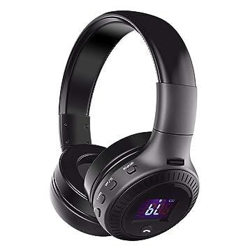 92f68984a36 ELEGIANT Auriculares Bluetooth Diadema Sonido Estéreo Nítido Liviano IOS  Android Negro: Amazon.es: Electrónica