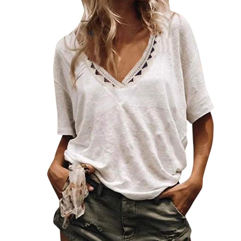 079dde49356c Amazon.com: Redacel Fashion Women Casual Hollowing Out Short Sleeve ...