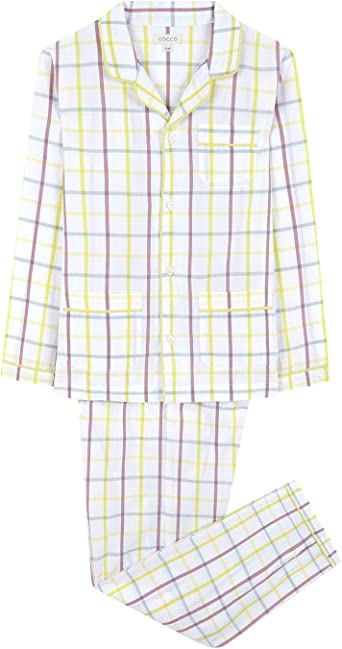 Gocco Pijama Largo Cuadros Conjuntos Niños
