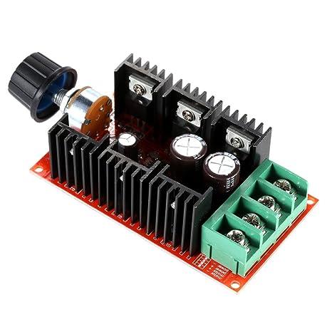 Schema Elettrico Regolatore Pwm : Kkmoon v a w dc regolatore di velocità del motore pwm