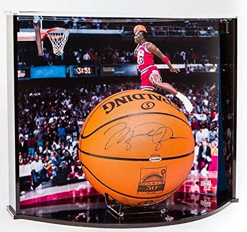 michael-jordan-signed-50th-anniversary-basketball-w-custom-designed-curve-display-case-uda