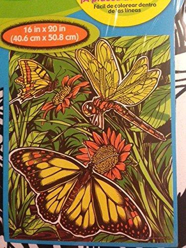 Velvet Poster Butterfly (Butterfly 16 X 20 Color Your Own Jumbo Velvet Poster)
