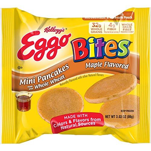 Kellogg Eggo Mini Pancakes, Maple, 3.03 oz, (72 count)