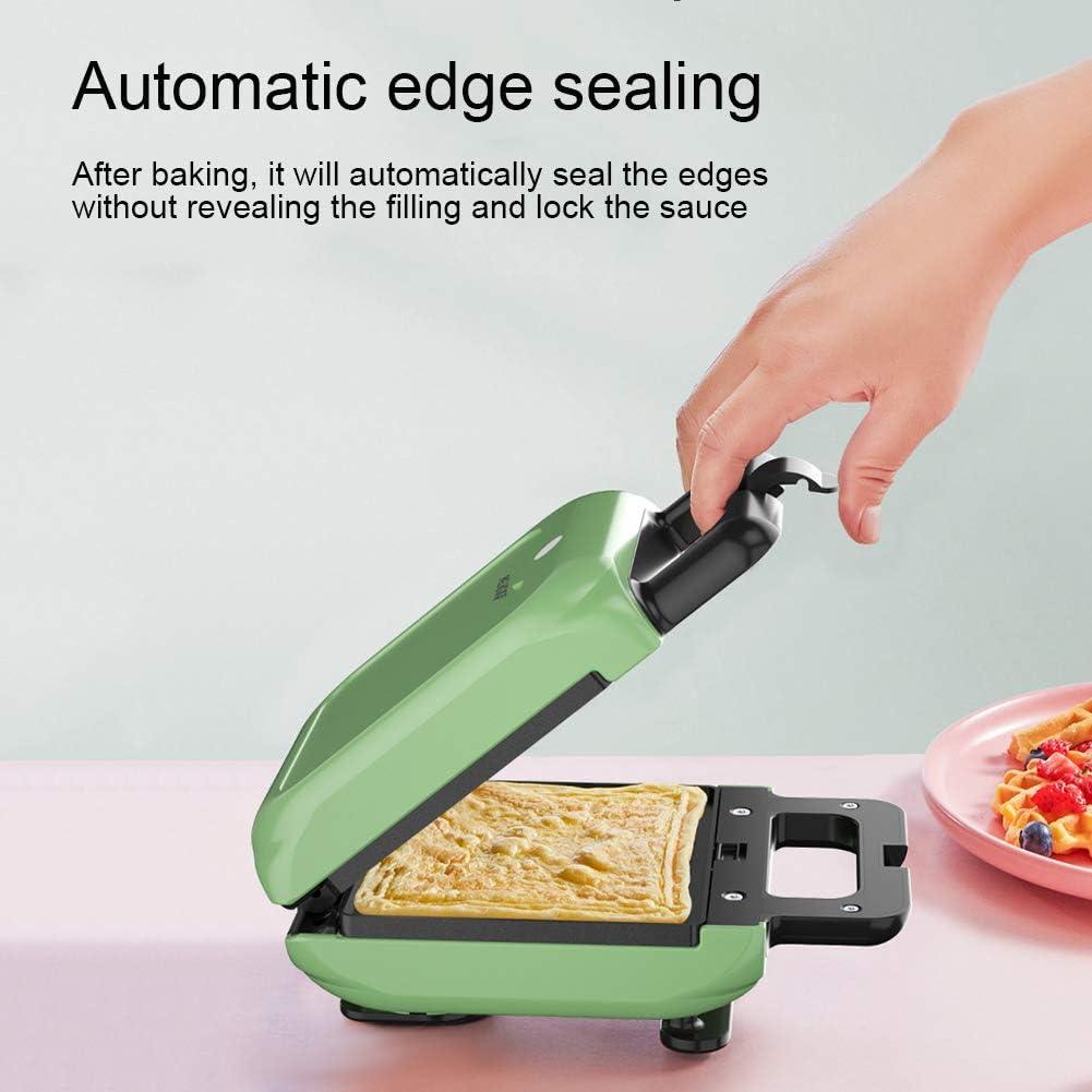ACCLD Mini Tostapane Staccabile Teglia Antiaderente Colazione Waffle Frittata Casa Sandwich Maker Pink