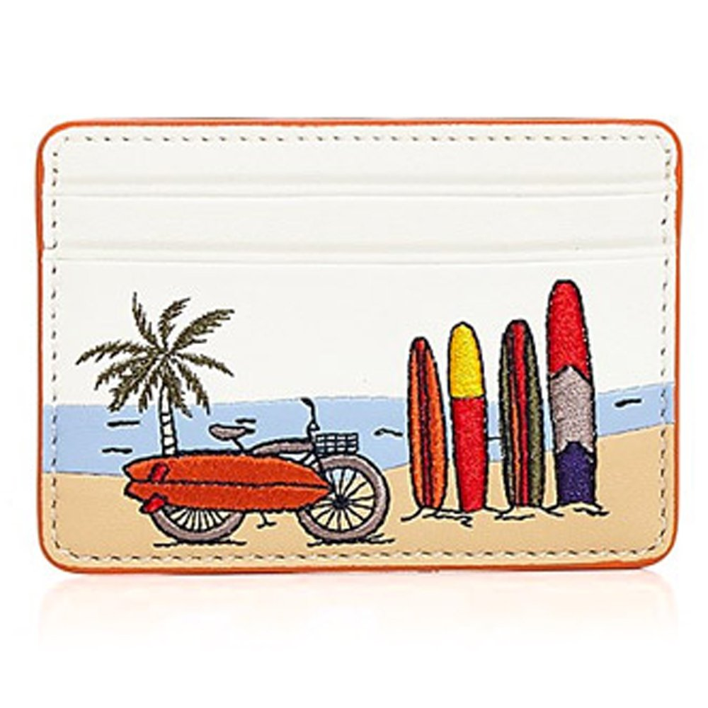 Tory Burch Cardholder Mini Wallet Leather Vacation by Tory Burch