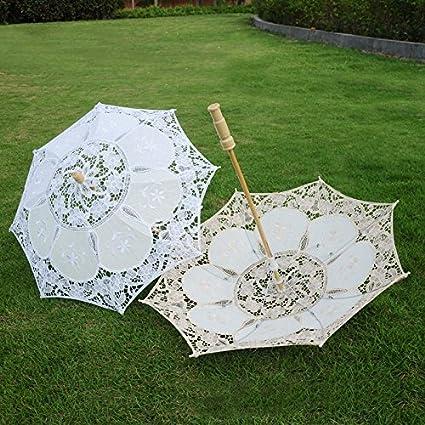 kangOnline Wedding Bride Lace Umbrella Vintage Women Parasol Decoration Photography Props