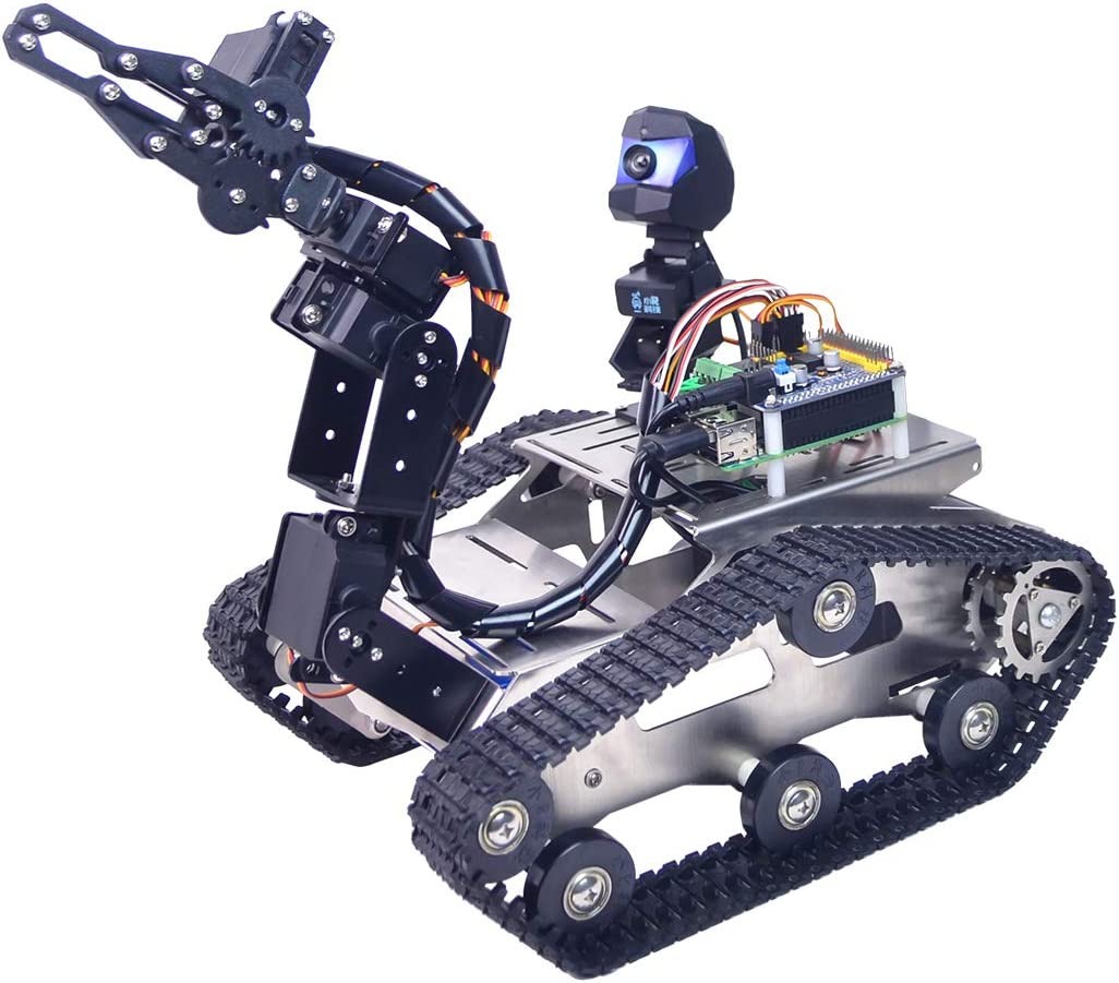 Line Patrol Obstacle Avoidance Version Small Claw Seciie Programmable TH WiFi FPV Tank Robot Car Kit with Arm for Arduino MEGA