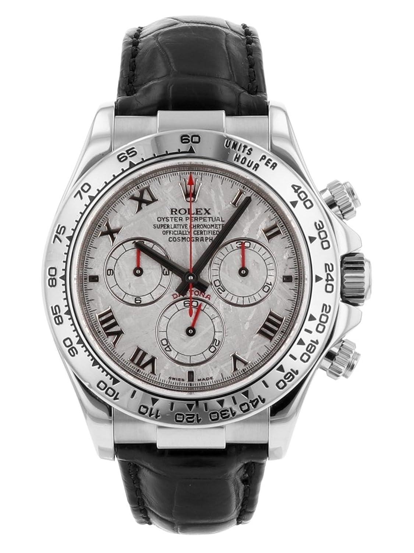 [ロレックス] ROLEX 腕時計 116519 Z番 コスモグラフデイトナ WG/レザー メテオライト 自動巻き [中古品] [並行輸入品] B07BS4SK2Y