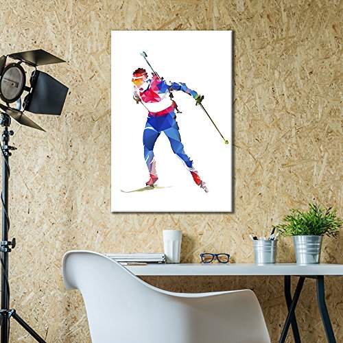 Sports Theme Man Skiing
