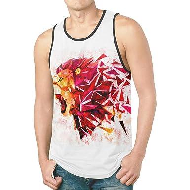 19d2ea3d Amazon.com: InterestPrint Cool Design Men's Tank Tops T-Shirt Gym ...