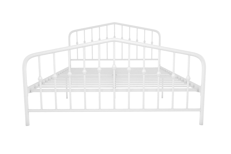 Amazon.com: DHP 4044129N Novogratz Bushwick Metal Bed, Full, White ...