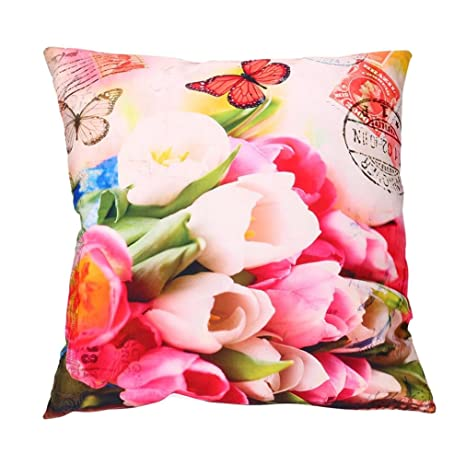 Oferta de Liquidación! Colchón Cubierta de edredón Print Pillow Cases Polyester Sofa Car Cushion Cover Home Decor 🌸 Manadlian (A)