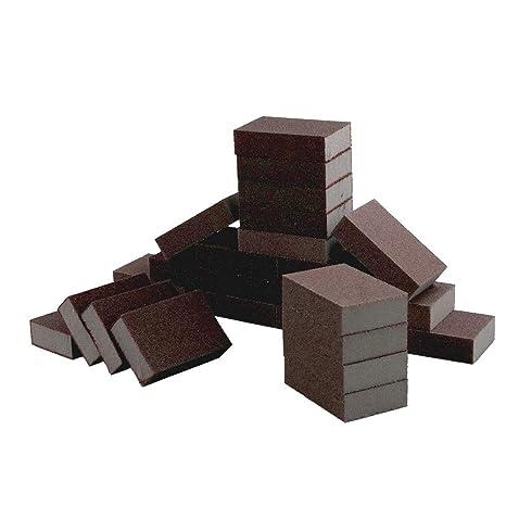 Sanding Sponge MASO Abrasive Blocks Flexible Foam Sandpaper Sanding Blocks with Wet and Dry Fine 1200-1500# Double Sided Sanding Pads All Purpose Sandpaper 6 Blocks