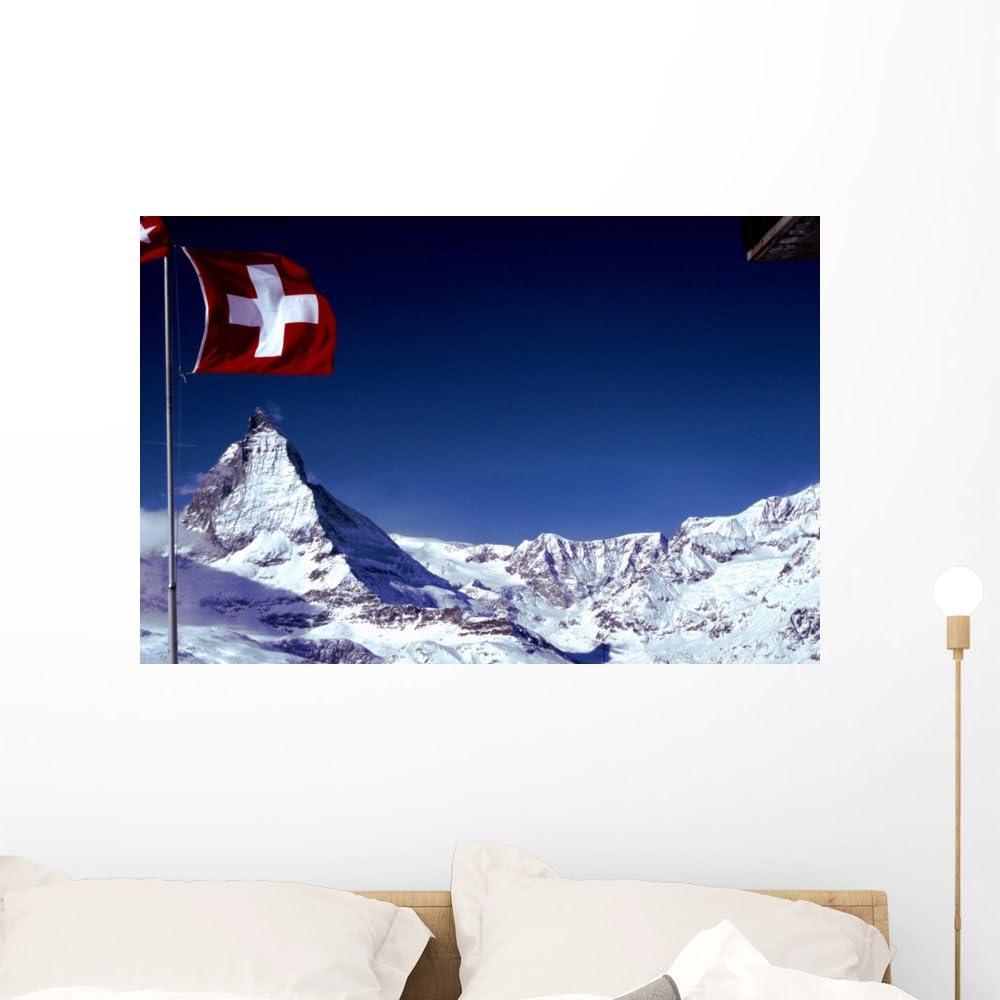 Matterhorn Mountains 3D Light Switch Sticker Cover Vinyl Skin Wall Decal Decor