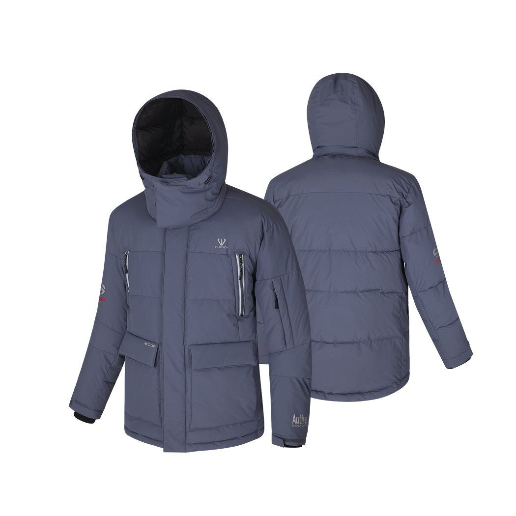 Fuerza Mens Down Wellon Special Collection Winter Parka Jacket Coat - Gray Fuerza North America