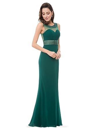 014276875e Ever-Pretty Womens Sleeveless Open Back Sexy Beaded Milirary Ball Dress 8  US Dark Green at Amazon Women s Clothing store