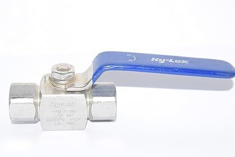 Hy-Lok H1B - Válvula de bola de alta presión, recta en 2 direcciones