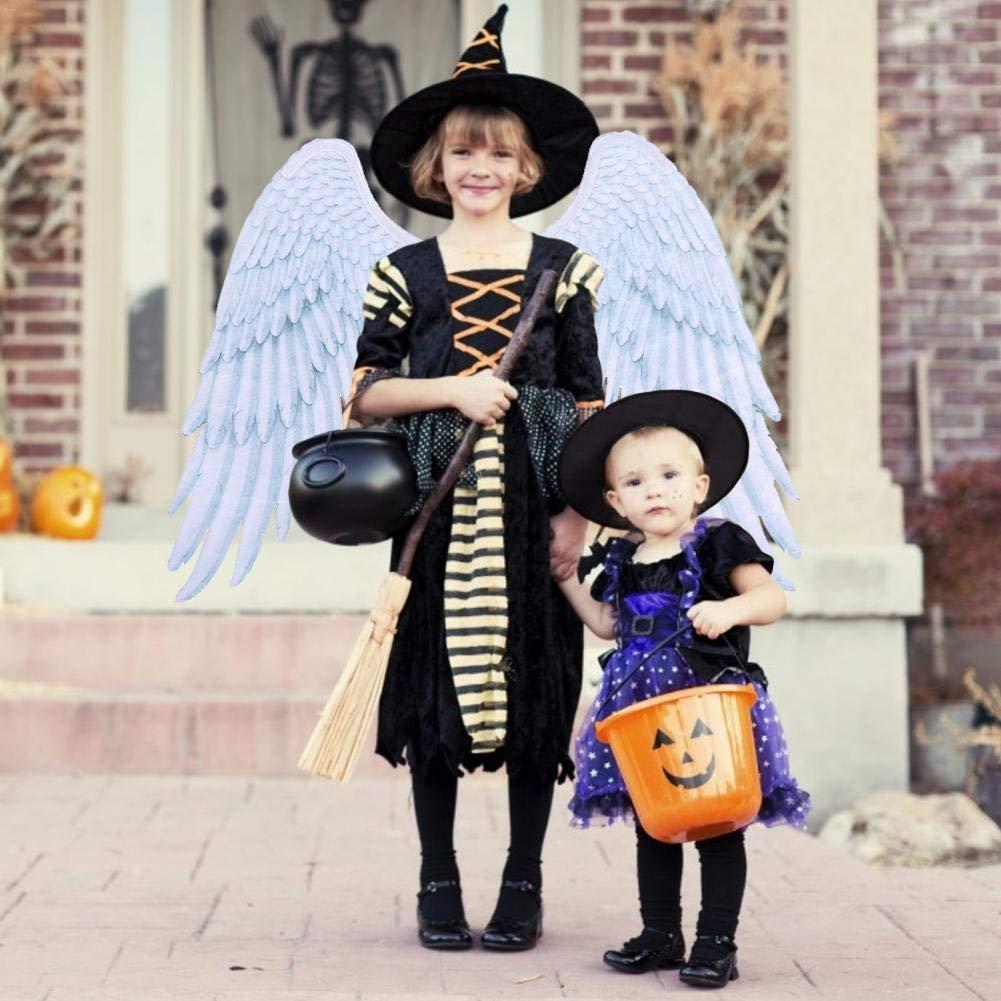 Ablerfly Costume da bambina bianco nero di Leiyini Ali di angelo di piume Giocattoli unisex Halloween Ragazzo Ragazza Donne Adulti Decorazione per bambini Dress up Fancy Cosplay Party contemporary
