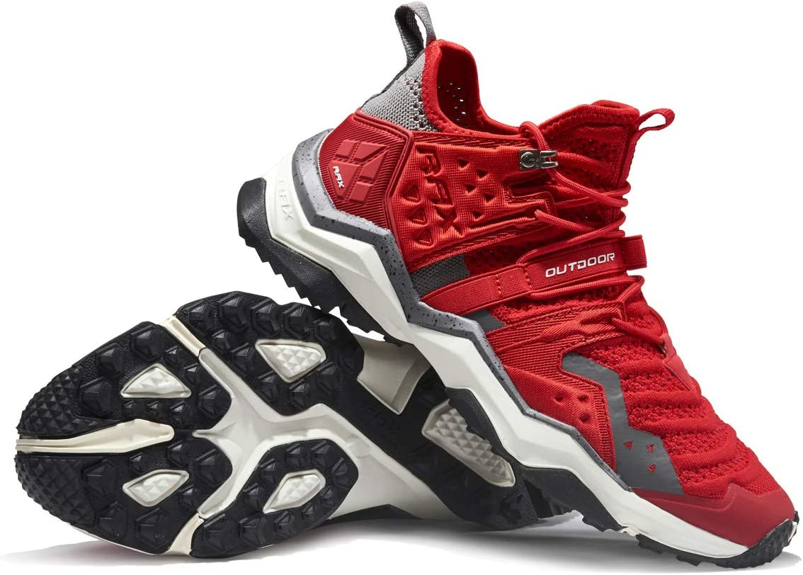 RAX Women's Lightweight Hiking Shoes Breathable Camping Backpacking Shoes Red
