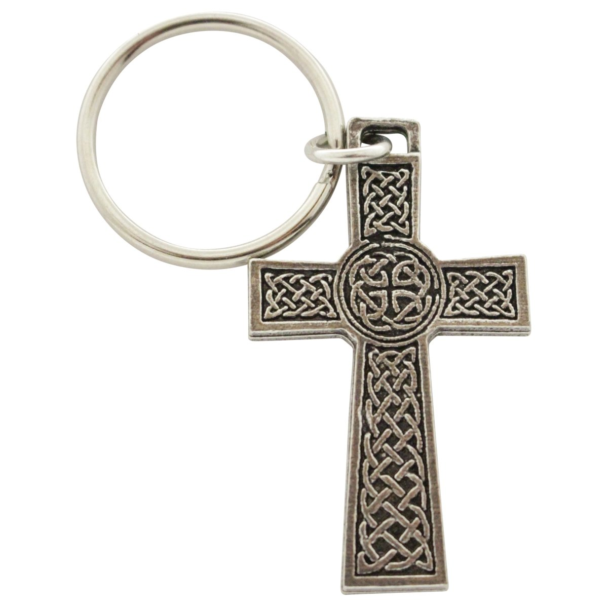 Creative Pewter Designs, Pewter Celtic Cross Key Chain, Antiqued Finish, A1024KC