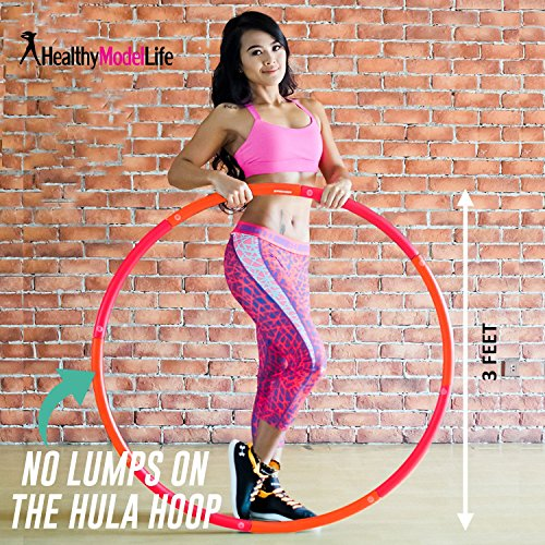 Fitness Hula Hoop by Healthy Model Life - Easy to Spin, Premium Quality and soft padding Hula Hoop