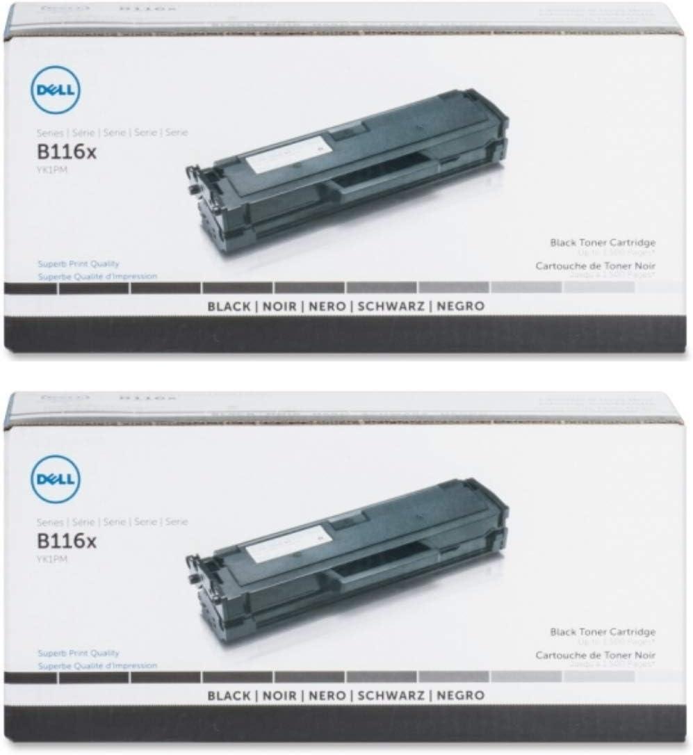 Dell YK1PM Toner Cartridge 2-Pack for B1160, B1160w Laser Printers