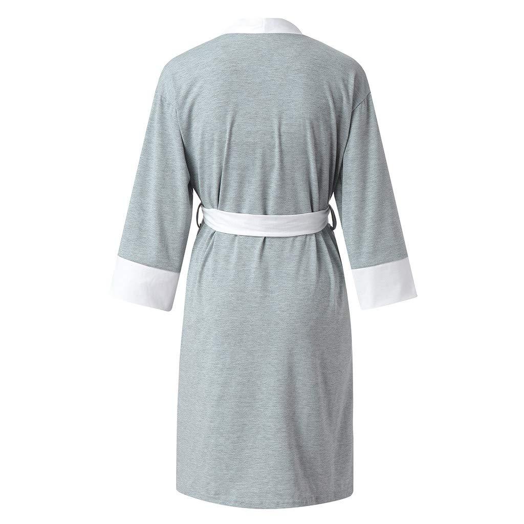 HCFKJ Ropa Premam/á Invierno Talla Grande para Mujer Embarazadas Cuidado De Maternidad Bata Delivery Robe Hospital Vestido De Lactancia Materna