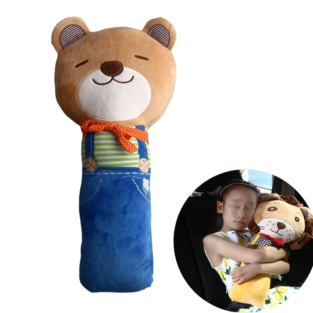 Car Seat Strap Shoulder Pads Covers for Kids Child - Safety Belt Pillow Bear