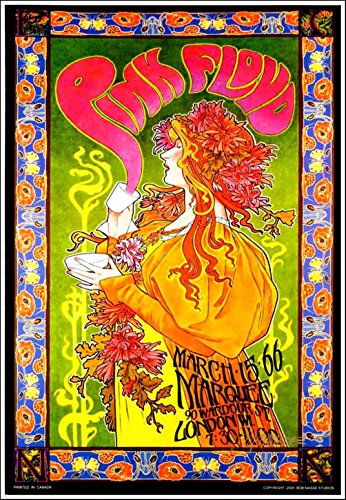 Pink Floyd Marquee Club Poster Mad Hatter
