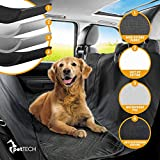 PetTech Luxury Car Seat Cover/Hammock for Rear Bench (for Large and Small Dogs), Simple Installation & Easy to Clean, Protect Your Car, 100% Waterproof, Anti-Slip Design, Travel Worry-Free