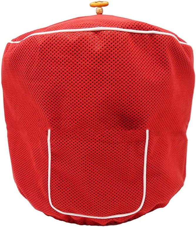 Pressure Cooker Cover Fit 6 Quart,Polyester Dustproof Case Protections Protector For Electric Instant Pot Pressure Cooker,Decorative Appliance Cover with Pocket for Accessories CYFC1338 (Red)